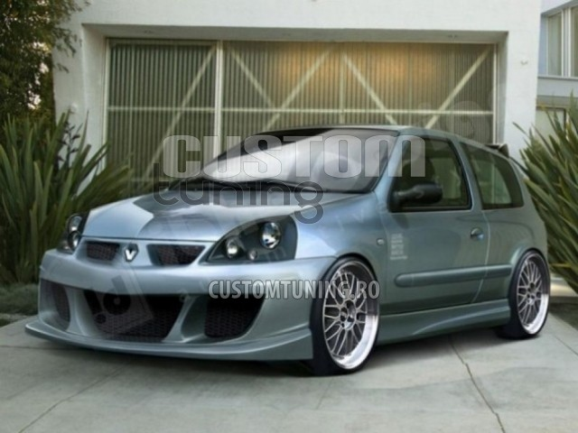 wide body kit renault clio ii facelift body kit. Black Bedroom Furniture Sets. Home Design Ideas